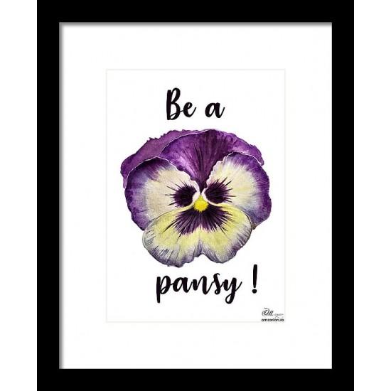 Tablou: Be a pansy PRINT