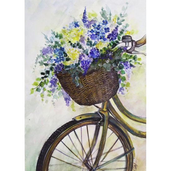 Felicitare:  Flower bicycle