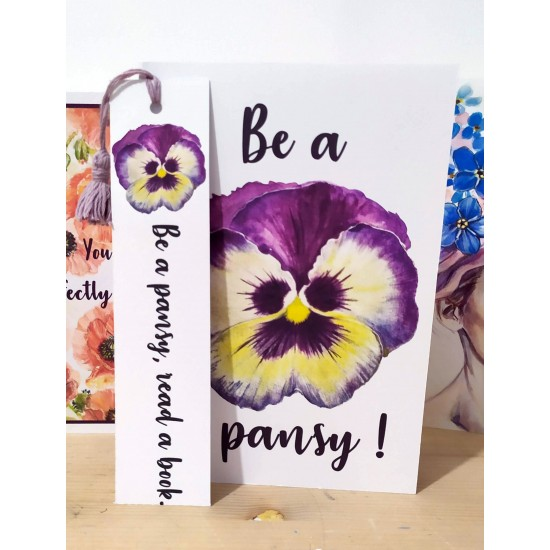 Semn de carte: Be a pansy