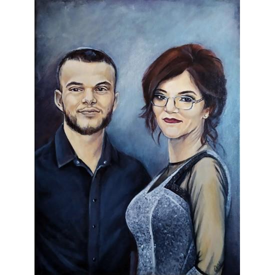 Portrete pictate pe pânză