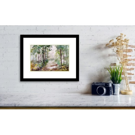 Tablou: Light in the forest PRINT