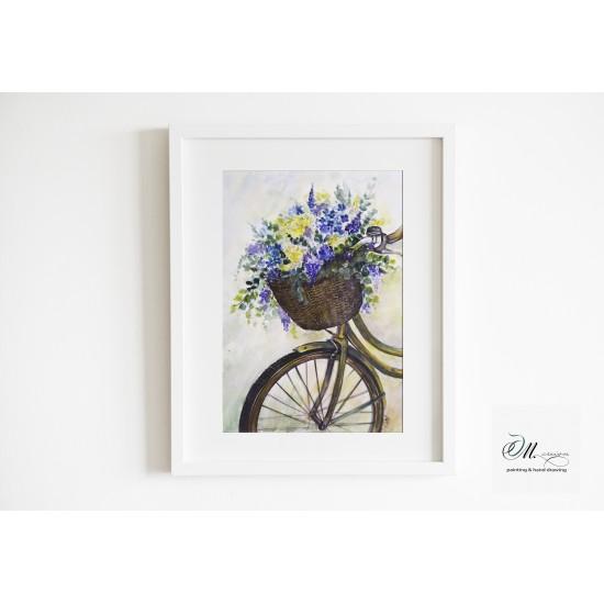 Tablou: Flower bicycle